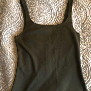 Zara bodycon khaki dress